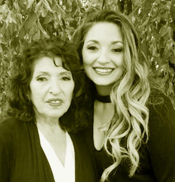 Image of Caption: Kristina Sunshine with her mother Mirtha