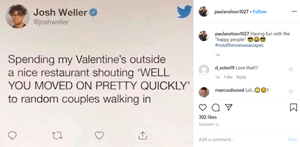 Image of Caption: Paula Nelson post on instagram caption, Having fun with the happy people