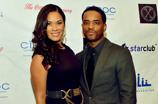 Image of Caption: Tomasina Parrott with her husband Larenz Tate