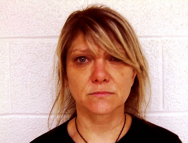 Image of Caption: Paula Nelson arrested on Sunday for possession of marijuana in Menard County, Texas