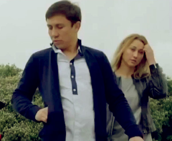 Image of Alina with her husband Gennady Golovkin