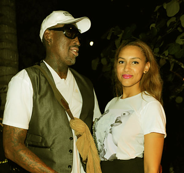 Image of Dennis Rodman with his daughter Alexis