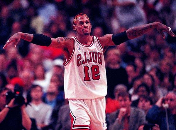 Image of American professional basketballer, Dennis Rodman