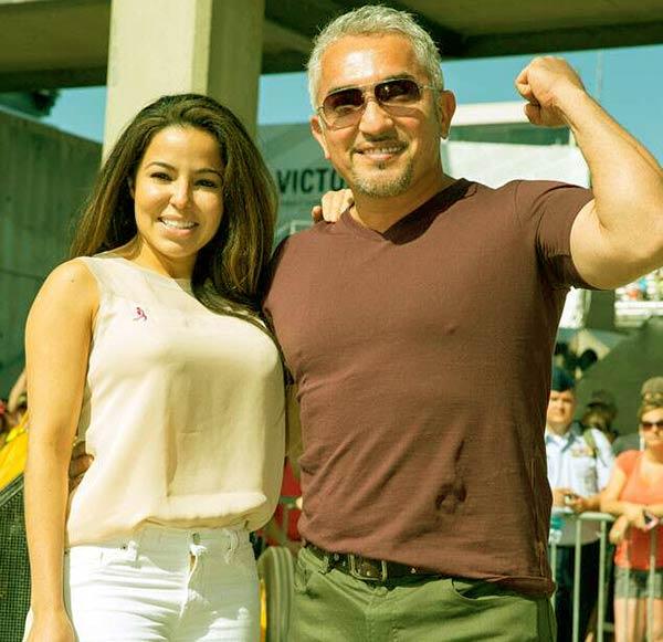 Image of Jahira Dar with her fiance, Cesar Millan