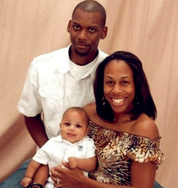 Image of Dianna Williams with her husband Robert and son Cobe Williams