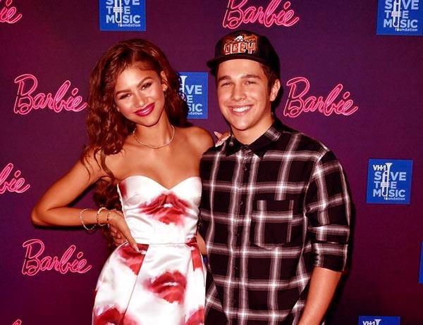 Image of Zendaya with her brother Austin Stoermer Coleman