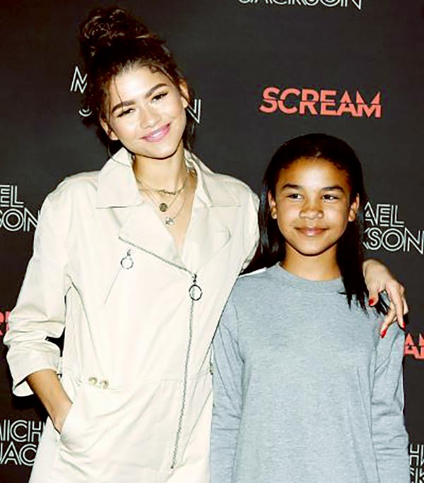 Image of Zendaya with her youngest sister Kaylee Stoermer Coleman