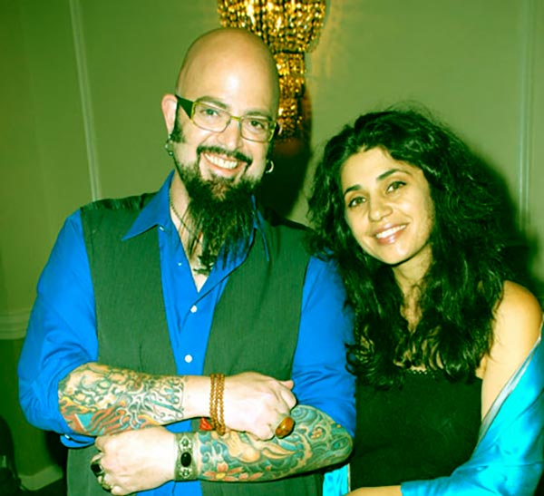 Image of Jackson Galaxy with his wife Minoo Rahbar