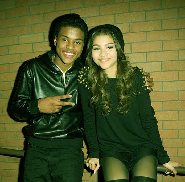 Image of Zendaya with her brother Julien