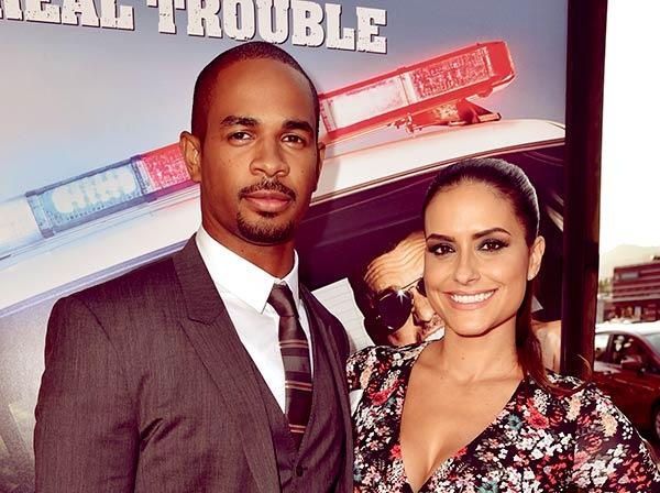 Image of Damon Wayans Jr with wife Samara Saraiva