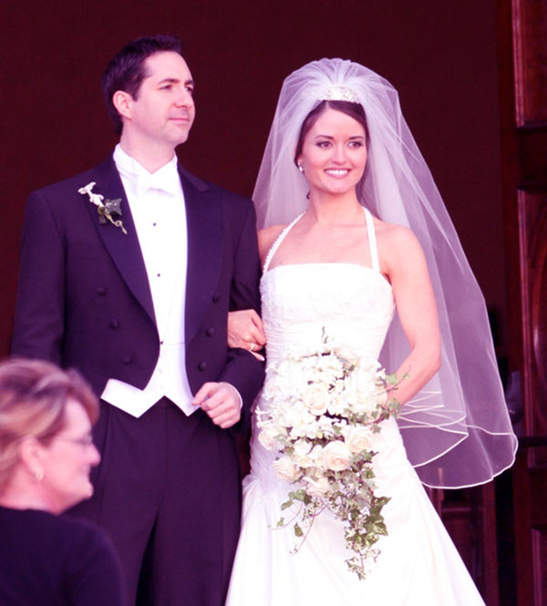 Image of Danica with her first husband Mike Verta