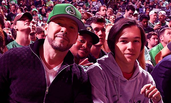 Image of Donnie Wahlberg with his son Elijah Hendrix Wahleberg