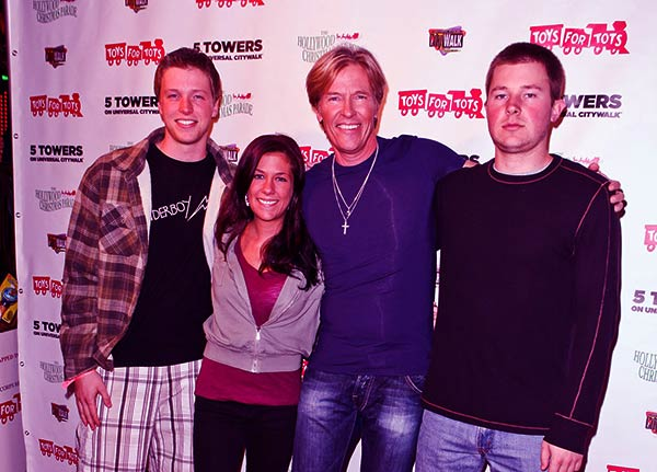 Image of Jack Wagner with his daughter Kerry and sons Harrison and Peter Wagner