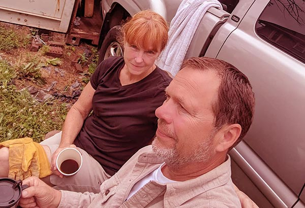 Image of Karen Laine with her long time boyfriend Roger