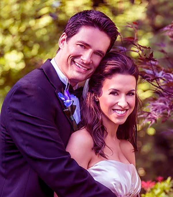 Image of Lacey Chabert with her husband David Nehdar