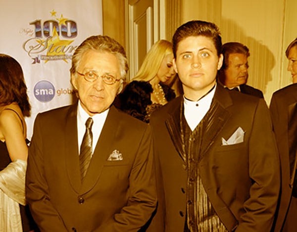 Image of Frankie Valli and son Francesco Valli