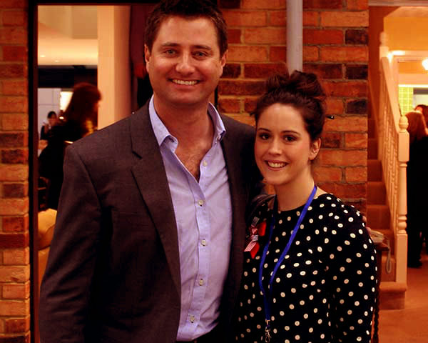 Image of Catriona Drummond with her ex-husband George Clarke