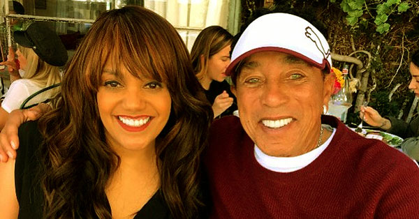 Image of Smokey Robinson with his daughter Tamla Claudette