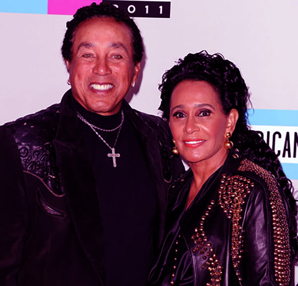 Image of Smokey Robinson with first wife Claudette Rogers Robinson