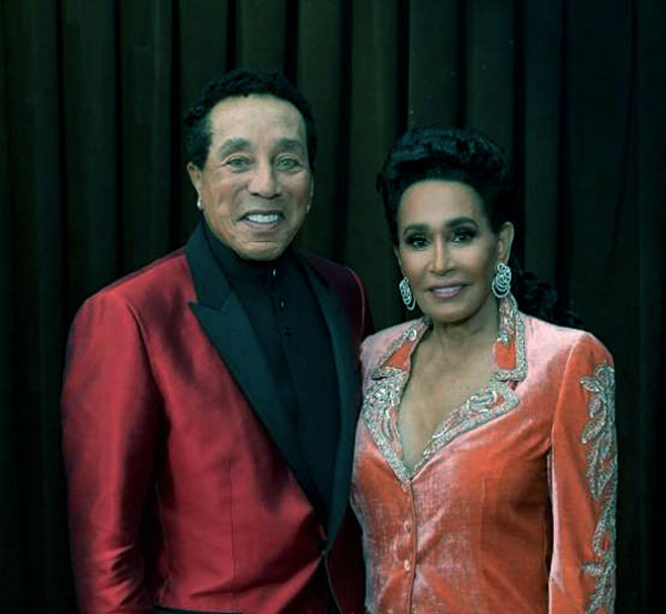 Image of Smokey Robinson with his wife Frances Glandney