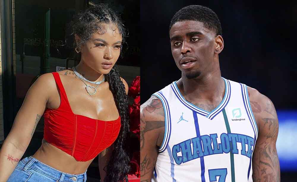 Photo of India Love and her boyfriend, Dwayne Bacon.