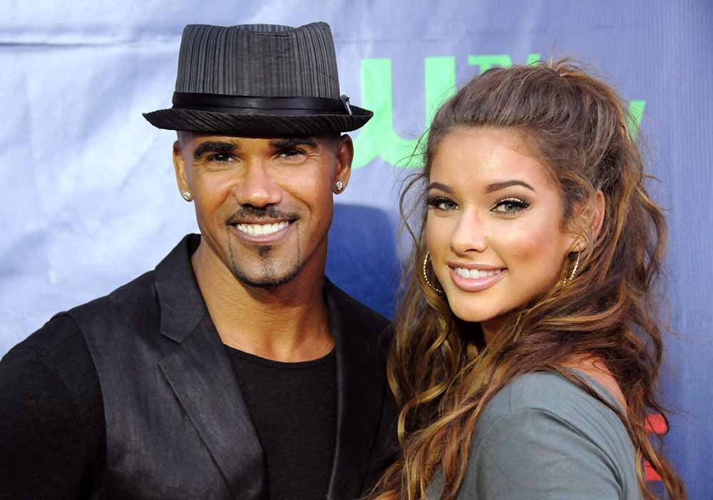 Photo of Shemar Moore and his ex-girlfriend, Lauren Wood.