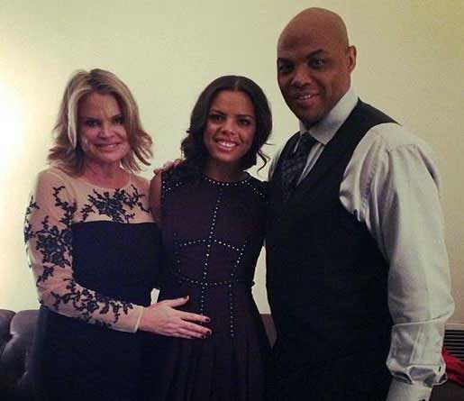 Photo of Christiana Barkley and her father, Charles Barkley and mother.