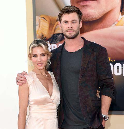 Image of Chris Hemsworth and his wife, Elsa Pataky.