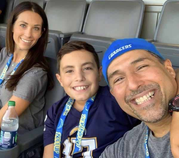 Photo of Autumn Calabrese and his ex-husband, Kent Guzman and son.
