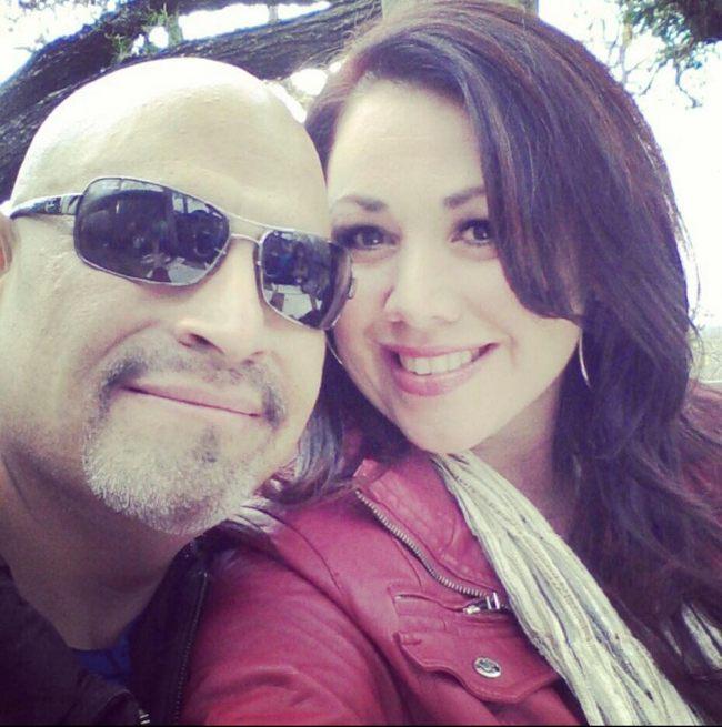Image of renowned actress, Vanessa Villanueva with her husband
