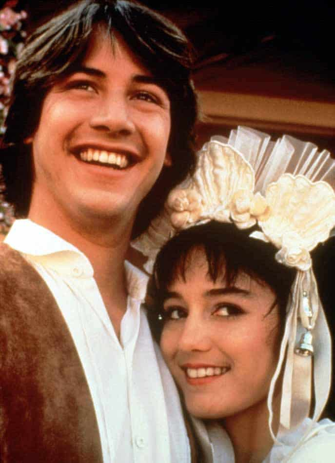 Photo of Keanu Reeves and ex-girlfriend, Jill Schoelen.