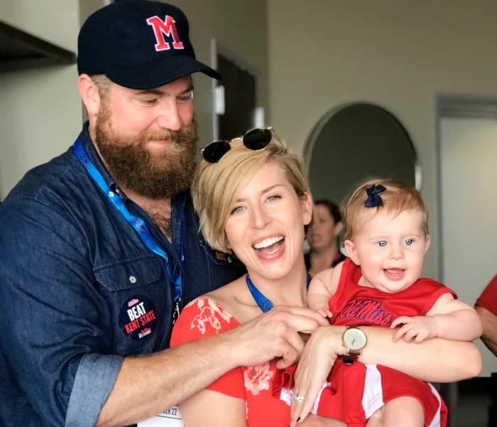 Helen Napier with her parents, Erin and Ben Napier