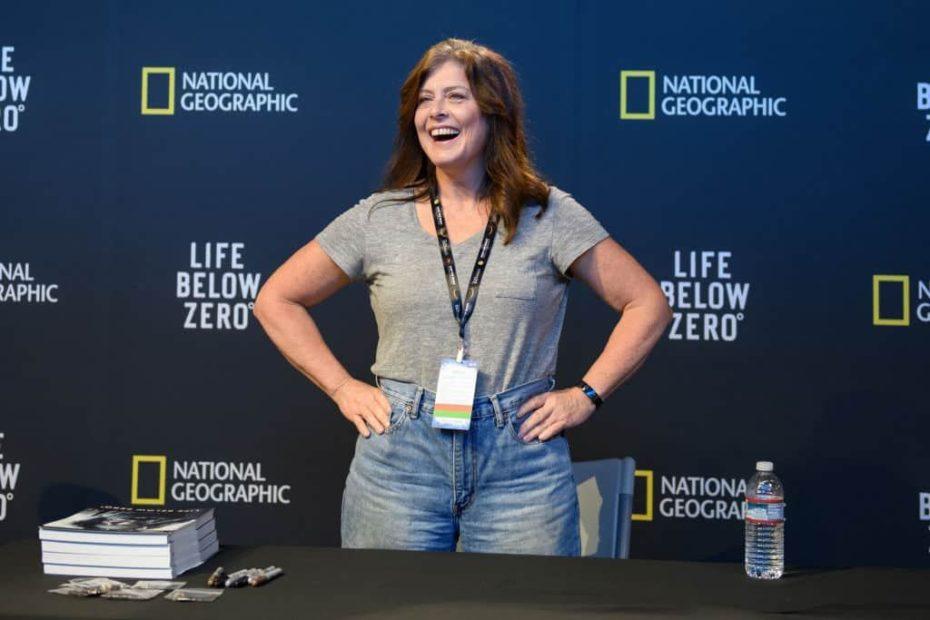 Image of an American survivalist, Sue Aikens