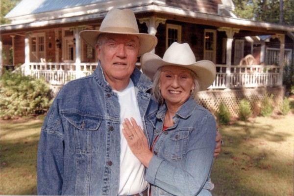 Brenda Gantt with her late husband, George Patton