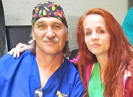 Dr. Jeff Young with his wife, Petra
